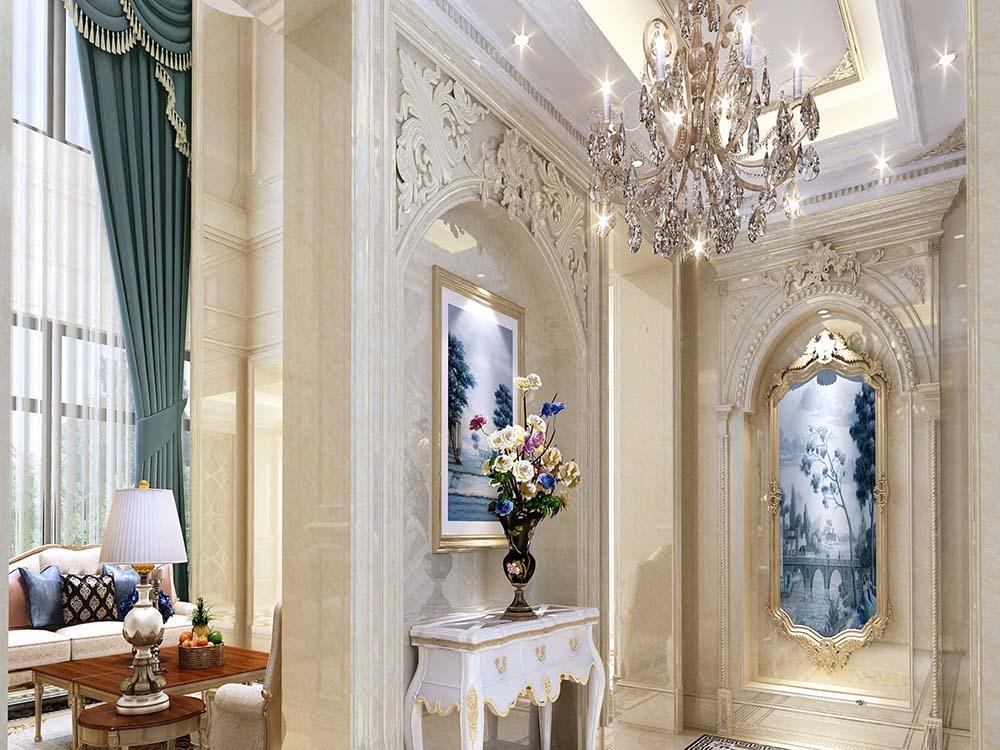金大元 别墅装修 法式风格 腾龙设计 别墅设计师 客厅图片来自孔继民在金大元别墅法式风格设计案例的分享