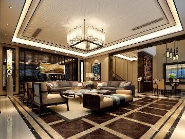 尚海郦景别墅装修设计案例展示