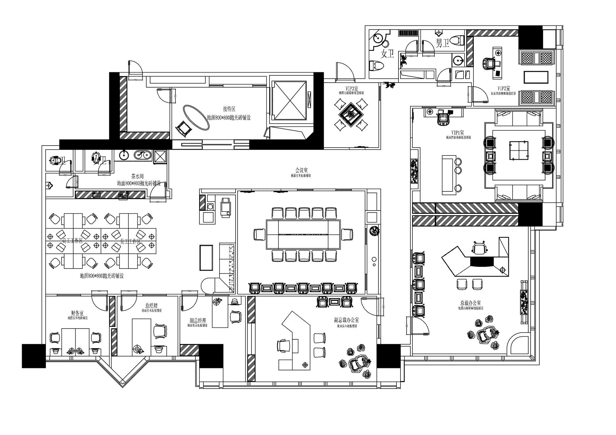 办公空间 现代风格 腾龙设计 户型图图片来自孔继民在办公空间设计案例展示的分享