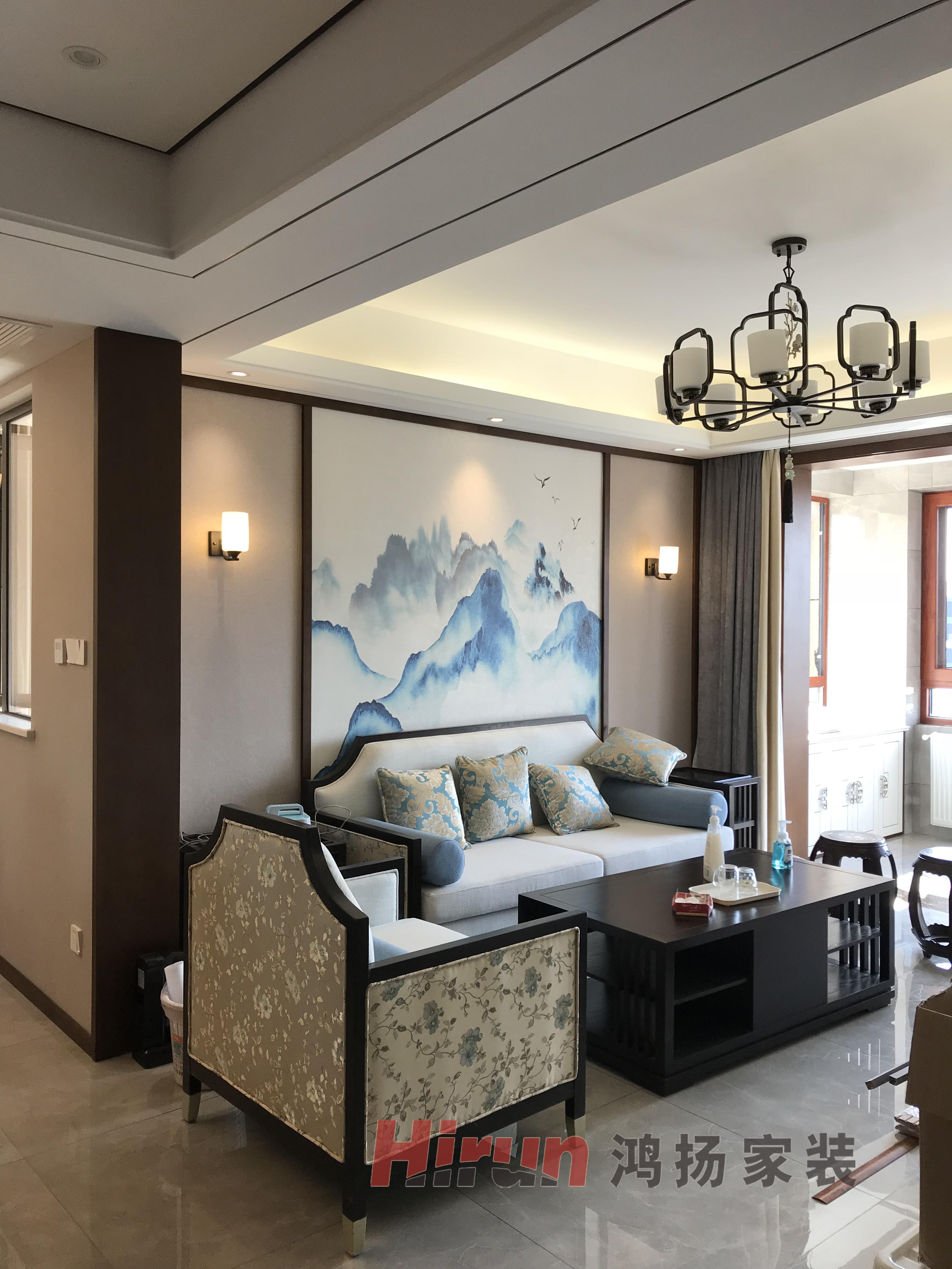 简约 三居 白领 收纳 80后 客厅图片来自鸿扬家装武汉分公司在汉口城市广场130平-鸿扬家装的分享