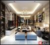 美的国宾府现代风格客厅装修设计效果图!