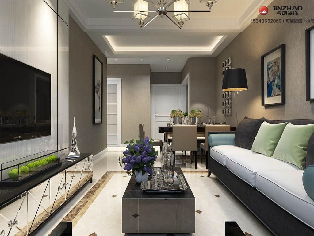 客厅图片来自装家美在龙城壹号118平米简约风格设计的分享