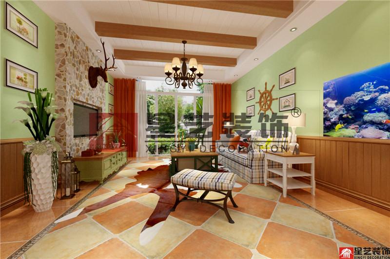 三居 田园 小美式 客厅图片来自星艺装饰贵阳装修公司在美的国宾府的分享