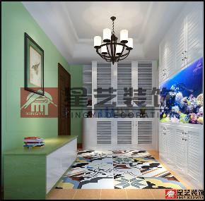 三居 田园 小美式 玄关图片来自星艺装饰贵阳装修公司在美的国宾府的分享