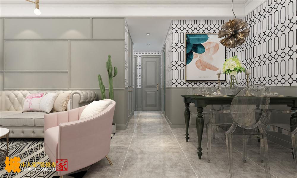 简约 客厅图片来自济南城市人家装修公司-在万达文旅城现代风格装修案例的分享
