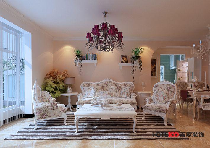 田园 80后 小资 客厅图片来自辽宁百家装饰在金地铂悦8月的分享