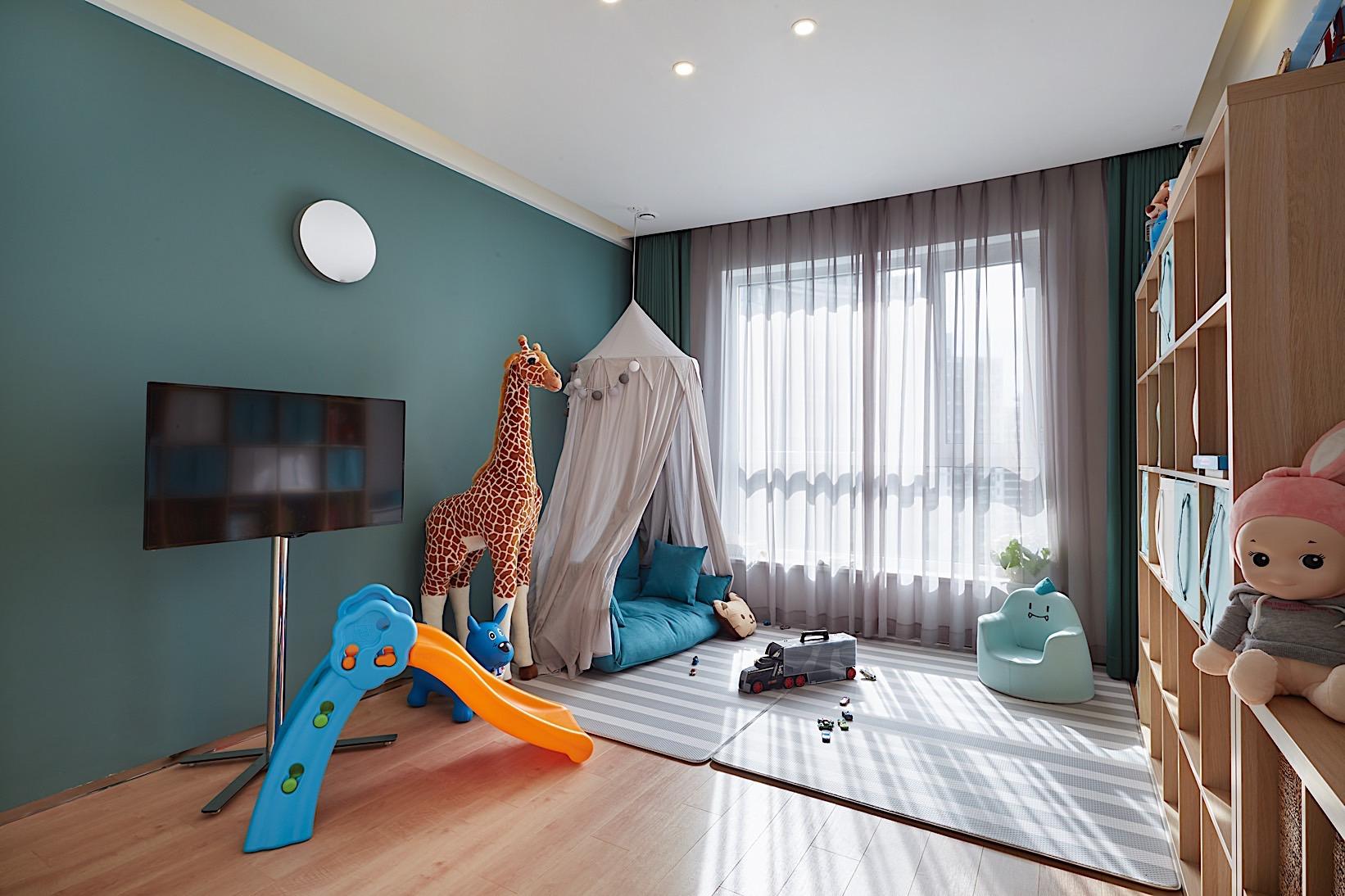 徐汇豪宅 中凯城市 大平层装修 现代风格 儿童房图片来自孔继民在徐汇中凯城市之光450平大平层的分享