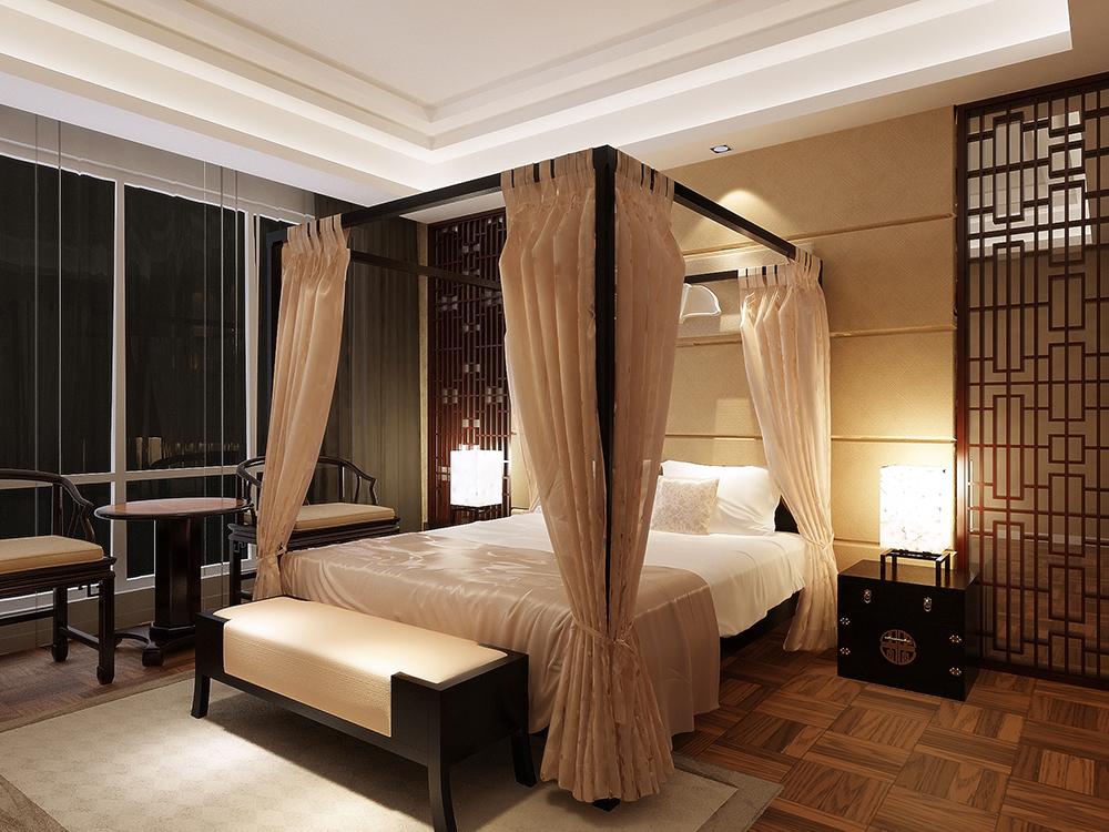 绿地香颂 别墅装修 新中式风格 别墅设计师 卧室图片来自孔继民在绿地香颂别墅新中式风格设计的分享