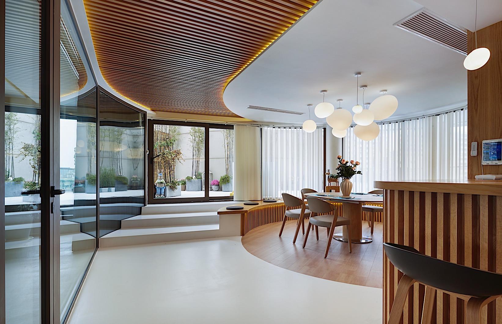 徐汇豪宅 中凯城市 大平层装修 现代风格 客厅图片来自孔继民在徐汇中凯城市之光450平大平层的分享