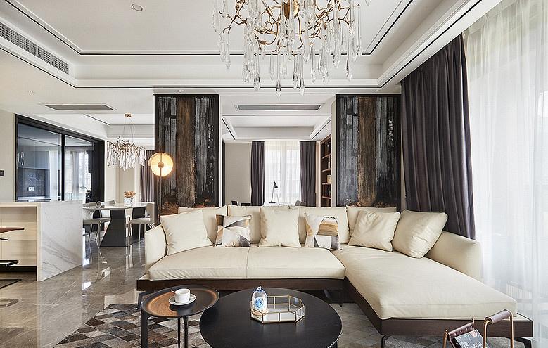 客厅图片来自家装大管家在110平港式温暖3居 感觉如沐春风的分享