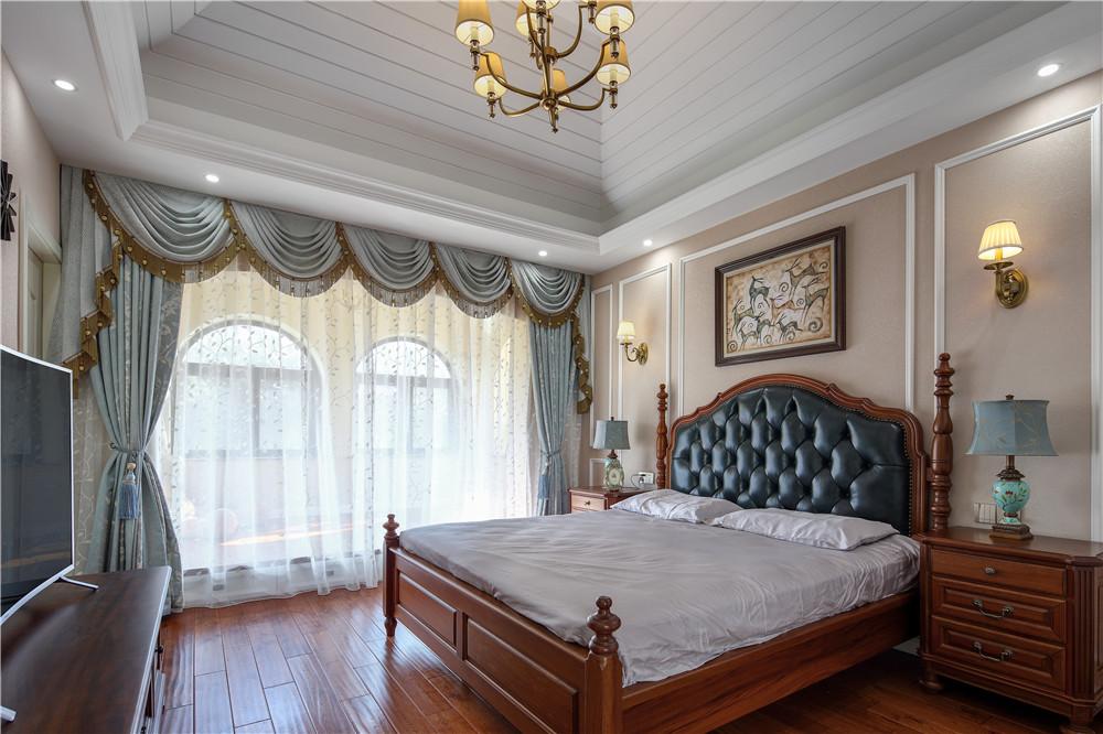 贝尚湾 别墅装修 美式风格 别墅设计师 卧室图片来自孔继民在贝尚湾别墅欧美风格设计的分享