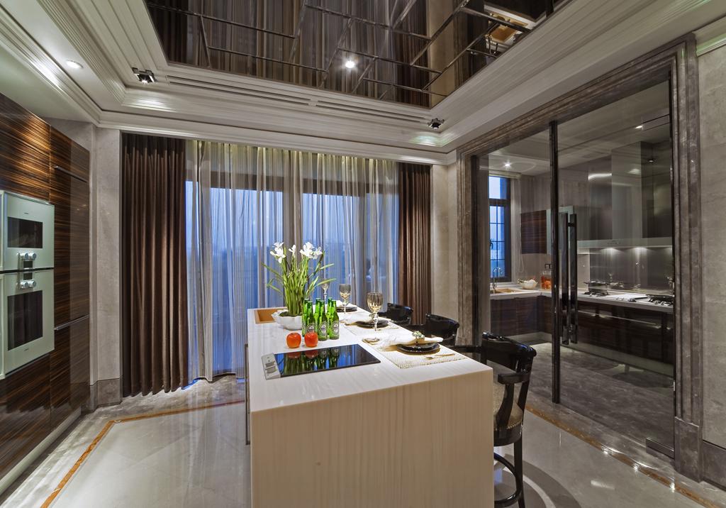 黄浦滩名苑 装修设计 欧式古典 豪宅设计师 厨房图片来自孔继民在黄浦滩名苑四房户型设计案例的分享