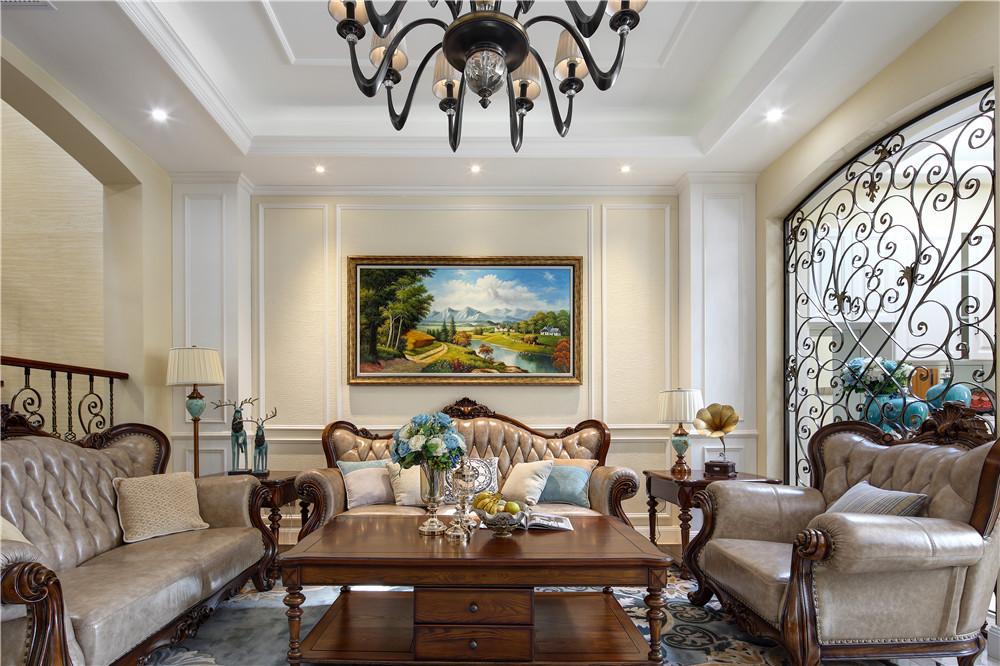贝尚湾 别墅装修 美式风格 别墅设计师 客厅图片来自孔继民在贝尚湾别墅欧美风格设计的分享