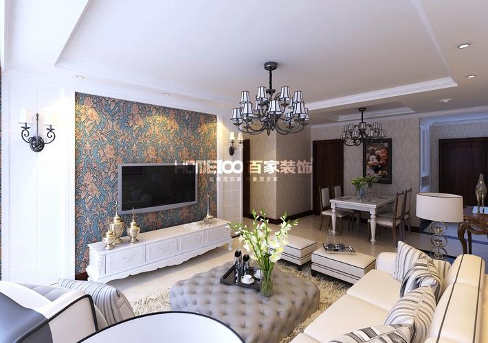 三居 奉天九里 122平 客厅图片来自百家装饰LL在奉天九里 122平的分享