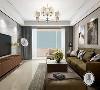 中冶德贤公馆160㎡现代简约客厅效果图,标榜高品质的都市生活!