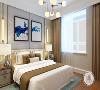 中冶德贤公馆160㎡现代简约卧室效果图,标榜高品质的都市生活!