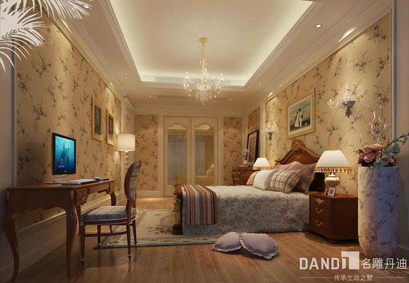 别墅 混搭 卧室图片来自名雕丹迪在燕晗山居-混搭风格-叠墅-500平的分享