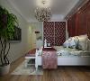 欧式的卧室设计,酒红色的软包设计,静静的享受生活带来的惬意。