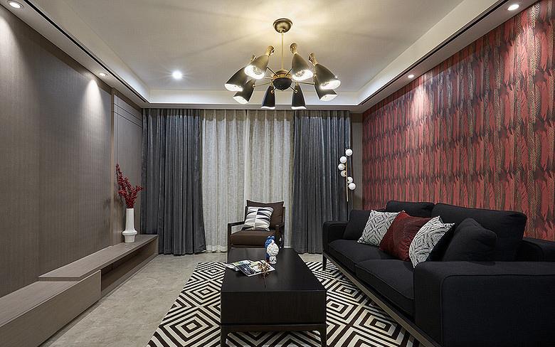 客厅图片来自家装大管家在92平现代简约居 心旷神怡舒适感的分享