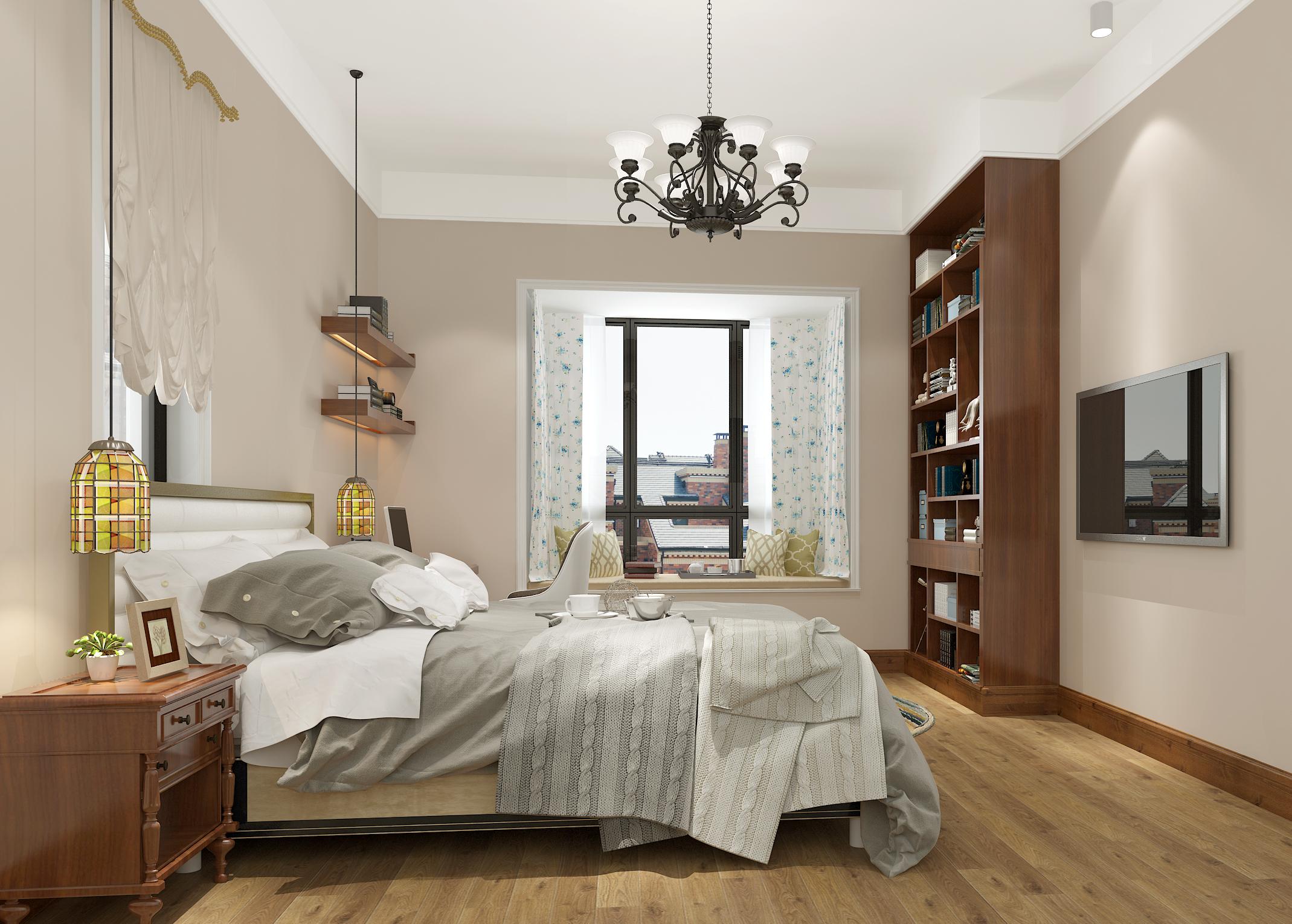 别墅 白领 收纳 80后 小资 美式 经典 卧室图片来自林上淮·圣奇凯尚装饰在经典美式别墅·上城郡林上淮的分享
