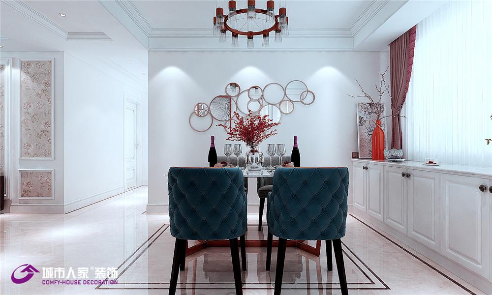 简约 欧式 餐厅图片来自济南城市人家装修公司-在济南财富壹号装修简欧风格案例的分享