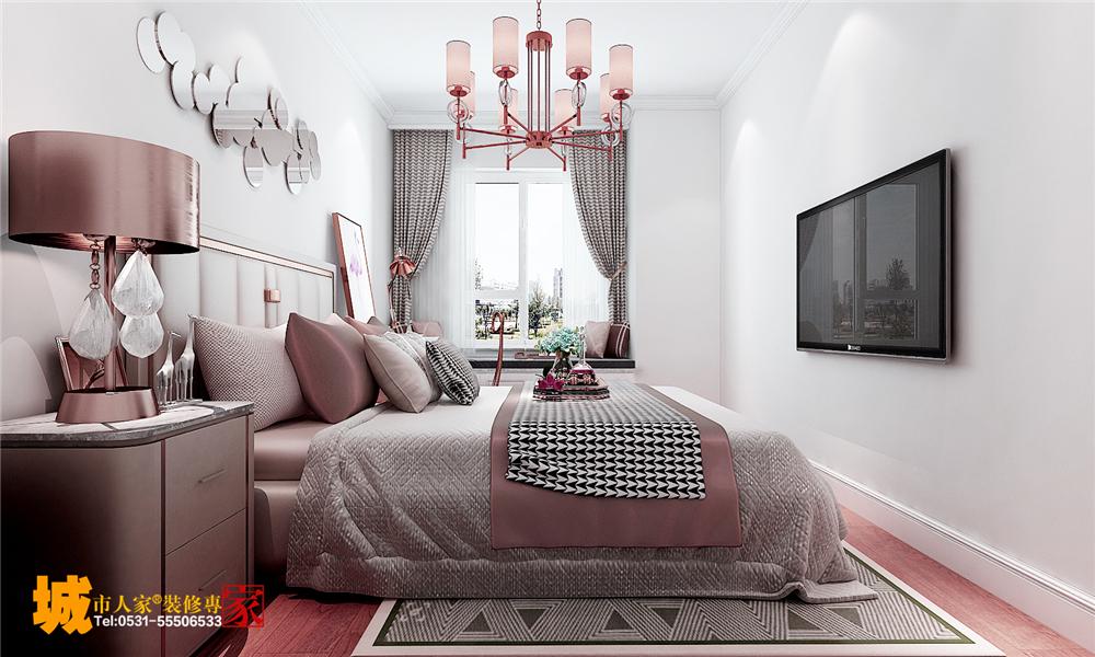 简约 欧式 卧室图片来自济南城市人家装修公司-在济南财富壹号装修简欧风格案例的分享