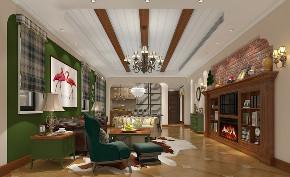 别墅 白领 收纳 80后 小资 美式 经典 客厅图片来自林上淮·圣奇凯尚装饰在经典美式别墅·上城郡林上淮的分享