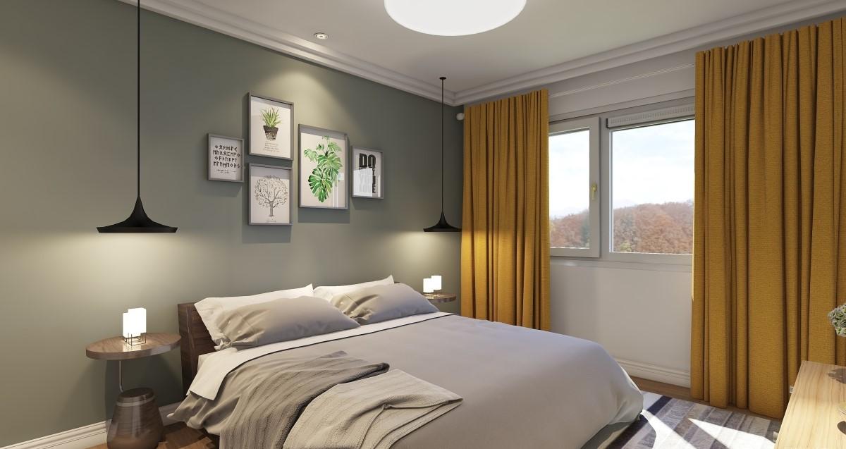 简约 卧室图片来自居然设计家在睬·绿的分享