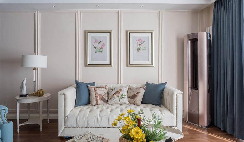客厅图片来自家装大管家在120平美式舒适3居 都市慢生活的分享