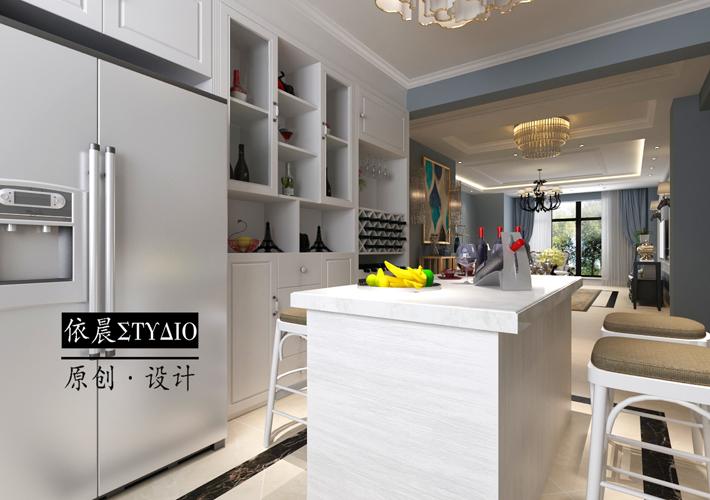 厨房图片来自沈阳百家装饰小姜在百家装饰隆河谷美式混搭的分享