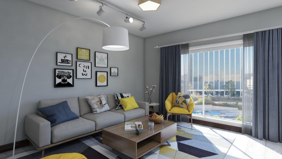 北欧 小资 80后 收纳 客厅 归属图片来自居然设计家在北欧的分享