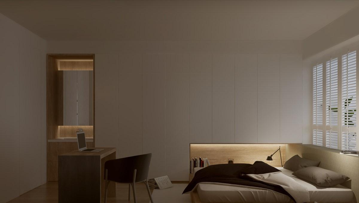 收纳 小平米改造 宜居图片来自居然设计家在白色木质感机能公寓的分享