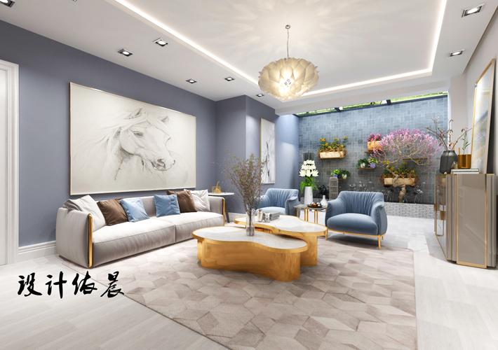 客厅图片来自沈阳百家装饰小姜在百家装饰隆河谷美式混搭的分享