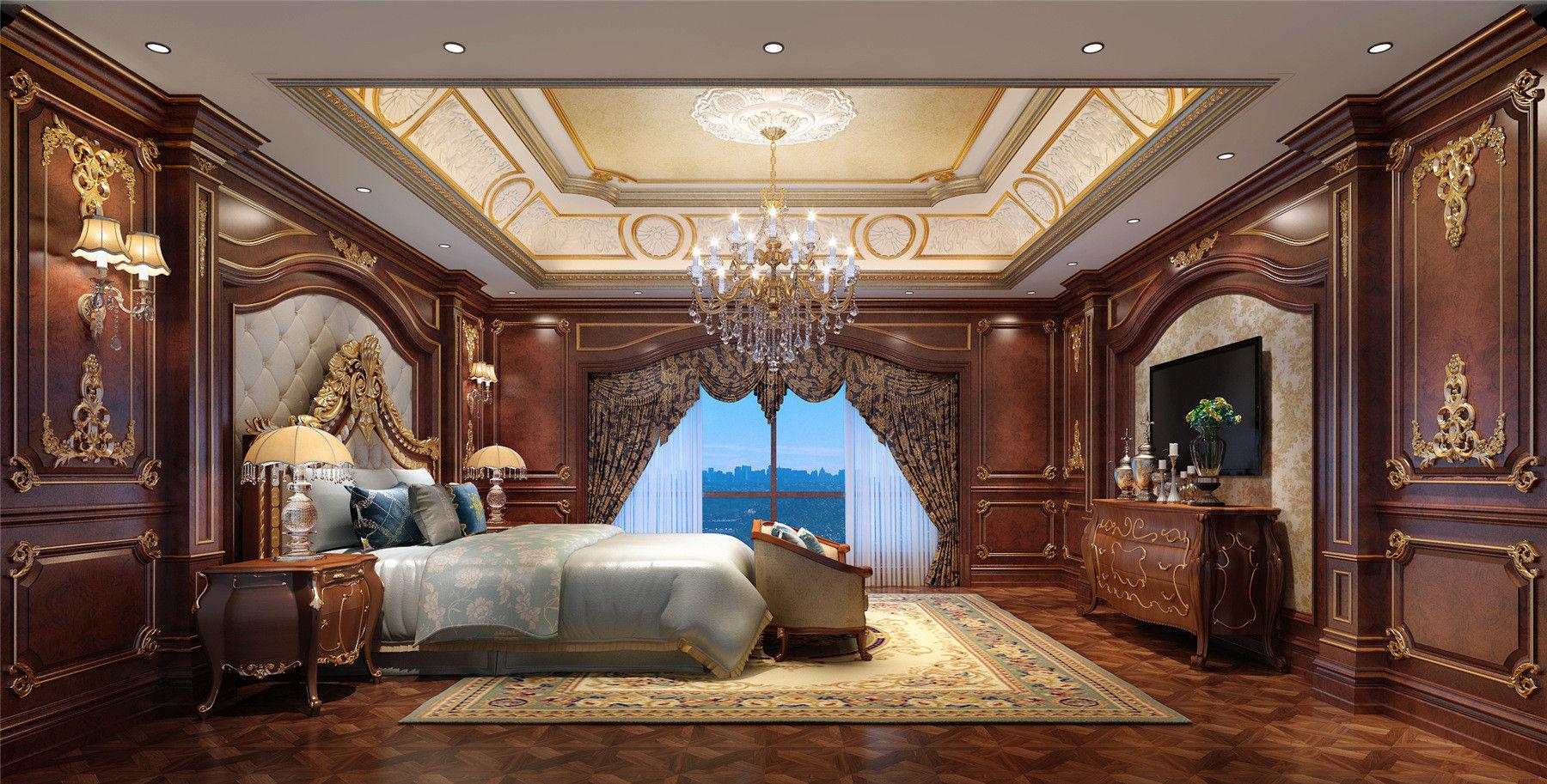 别墅装修 欧式古典 腾龙设计 郭建作品 卧室图片来自孔继民在1300平别墅装修欧式古典风格设计的分享