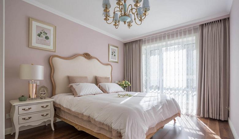 卧室图片来自家装大管家在120平美式舒适3居 都市慢生活的分享