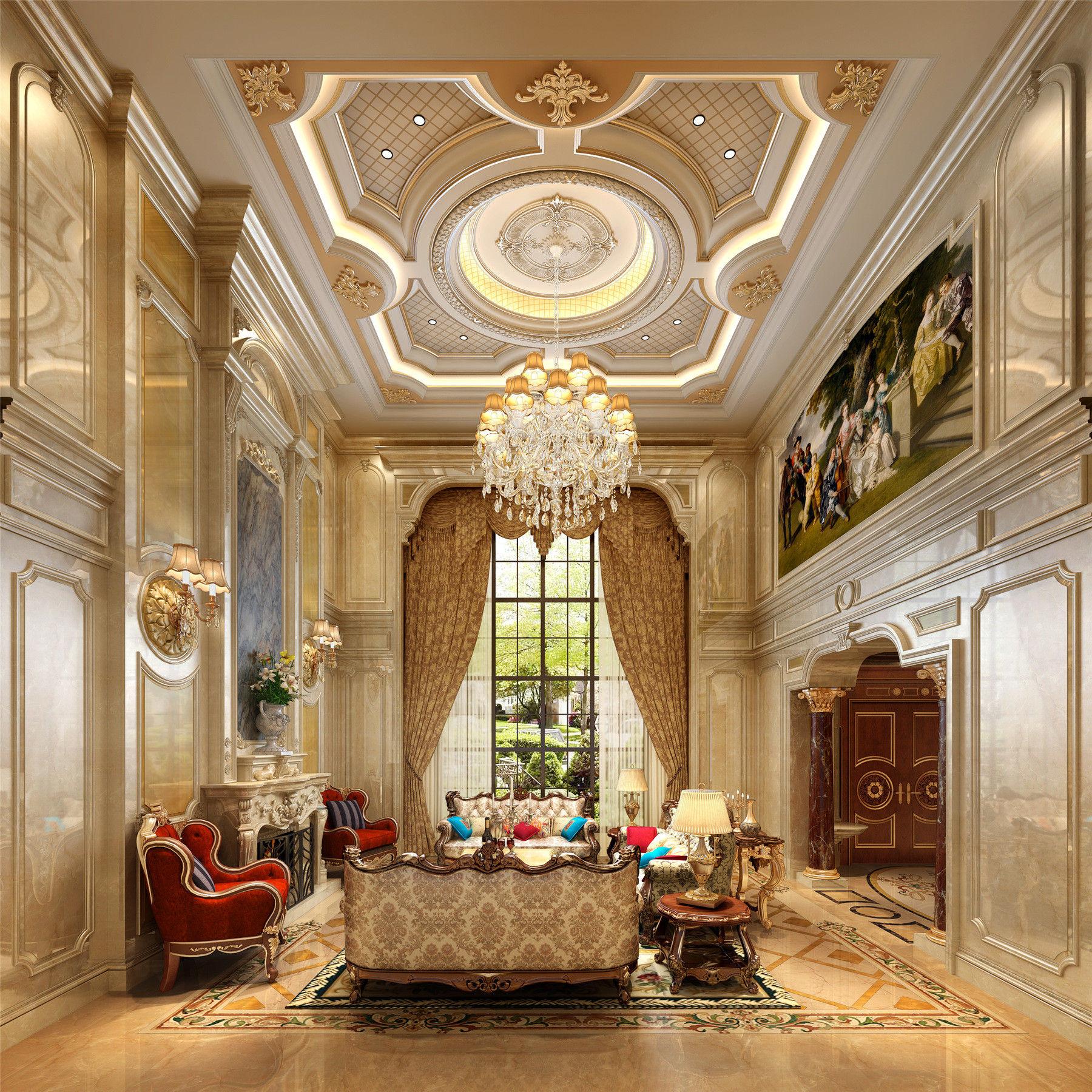 别墅装修 欧式古典 腾龙设计 郭建作品 客厅图片来自孔继民在1300平别墅装修欧式古典风格设计的分享