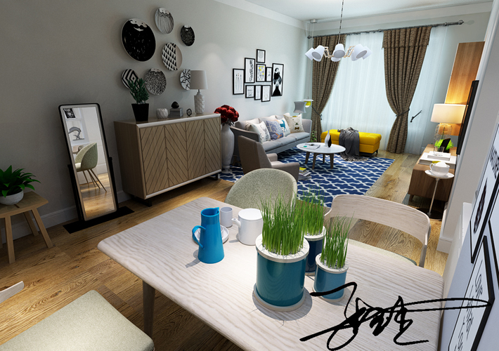 二居 中海和平之 80平 客厅图片来自百家装饰LL在中海和平之门 80平的分享