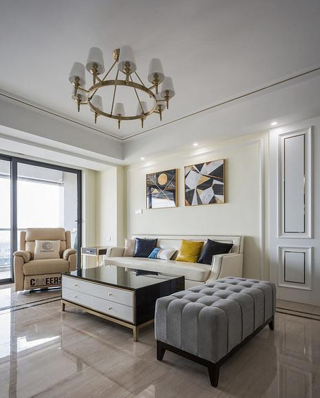 客厅图片来自家装大管家在89平现代混搭空间 年轻人的选择的分享