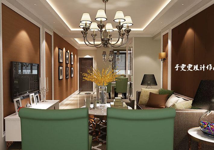 三居 中海和平之 115平 餐厅图片来自百家装饰LL在中海和平之门 115平的分享