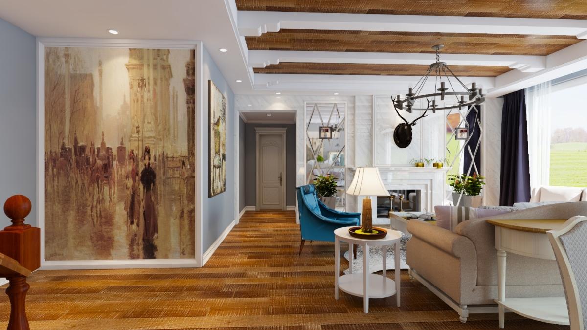混搭 地中海 客厅 卧室 80后图片来自居然设计家在纯美地中海的分享