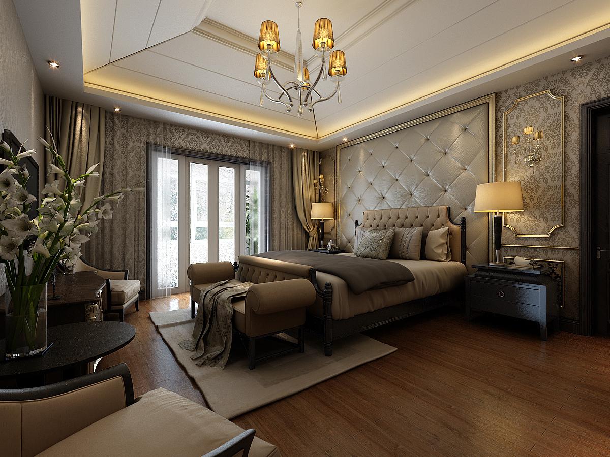 御翠园 别墅装修 欧式古典 别墅设计师 卧室图片来自孔继民在御翠园别墅装修欧式古典风格设计的分享