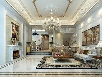 皇都花园350平别墅古典法式风格