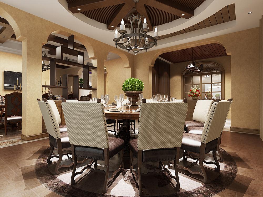 金茂逸墅 别墅装修 美式古典 别墅设计师 腾龙别墅设 餐厅图片来自孔继民在崇明岛金茂逸墅美式风格设计案例的分享