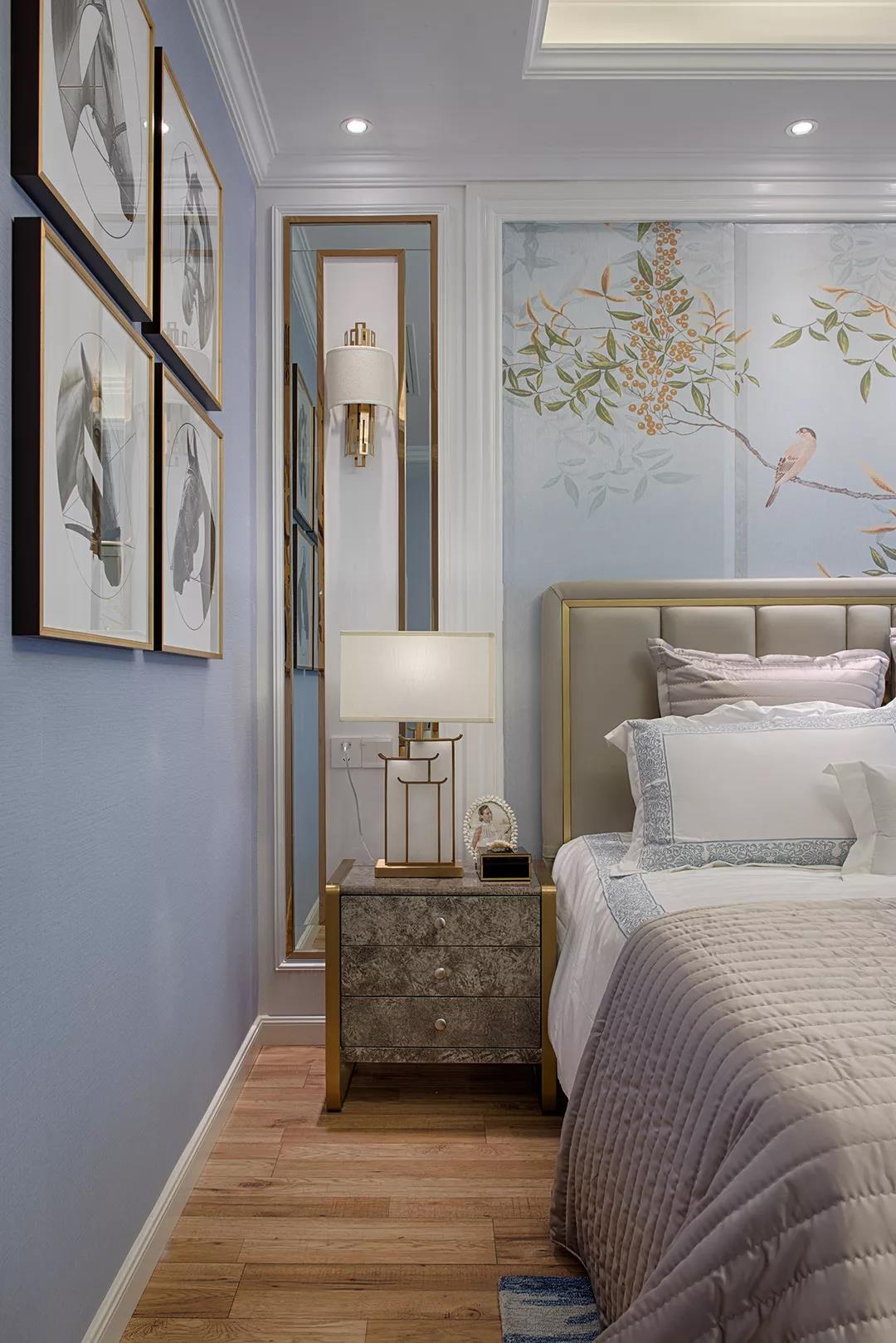 法式 简约 鹏友百年 私人定制 全案设计 混搭 重庆家装 卧室图片来自鹏友百年装饰在轻奢有度,浪漫刚好的分享