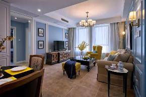 沙坪坝 白领 鹏友百年 私人订制 全案设计 美式 客厅图片来自鹏友百年装饰在100㎡简约美式风的分享