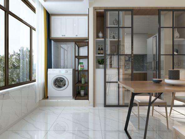 简约 三居 白领 收纳 80后 小资 阳台图片来自装家美在122平米现代简约装修设计效果图的分享