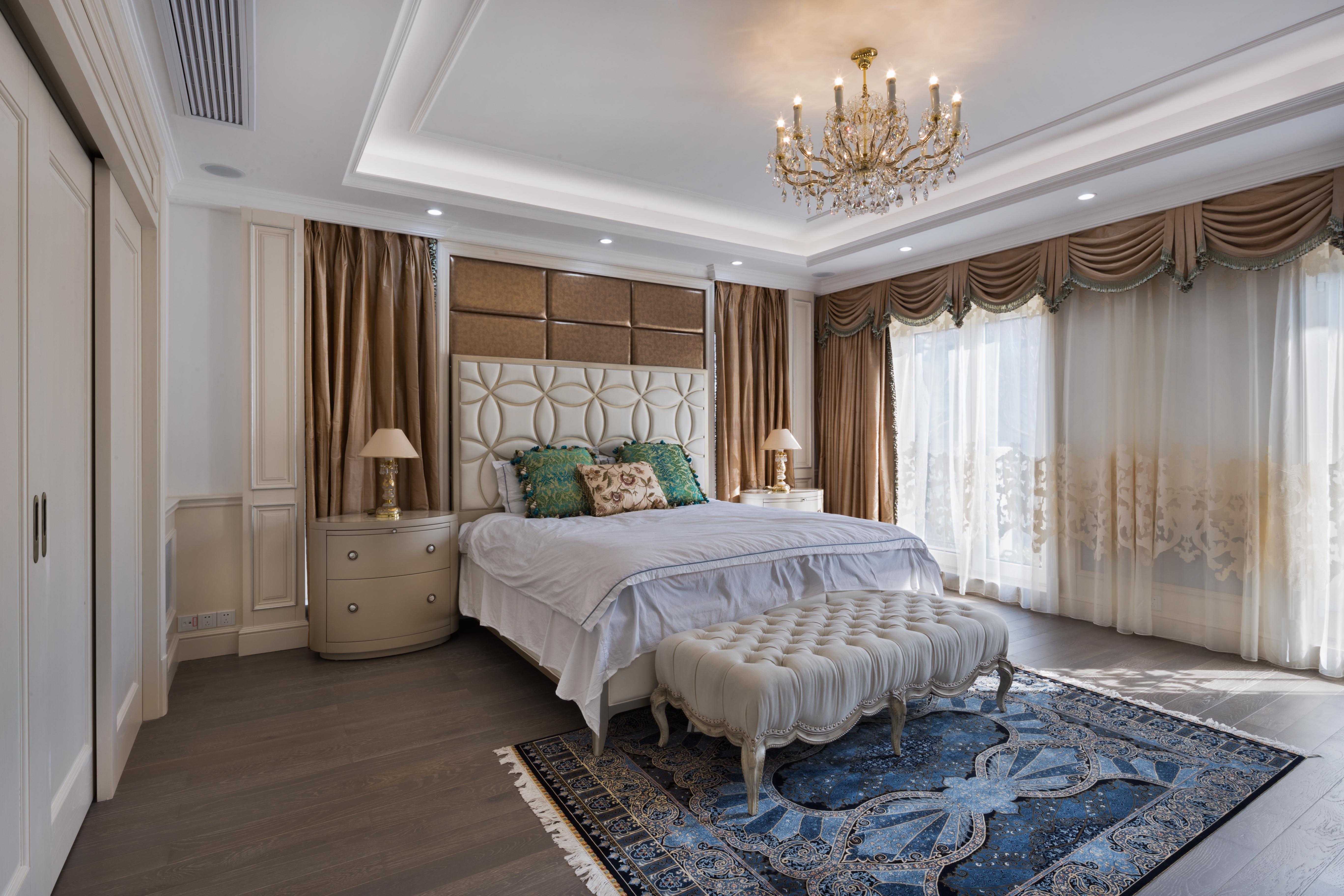 云间绿大地 别墅装修 北欧风格 别墅设计师 腾龙设计作 卧室图片来自孔继民在云间绿大地别墅欧美风格设计的分享