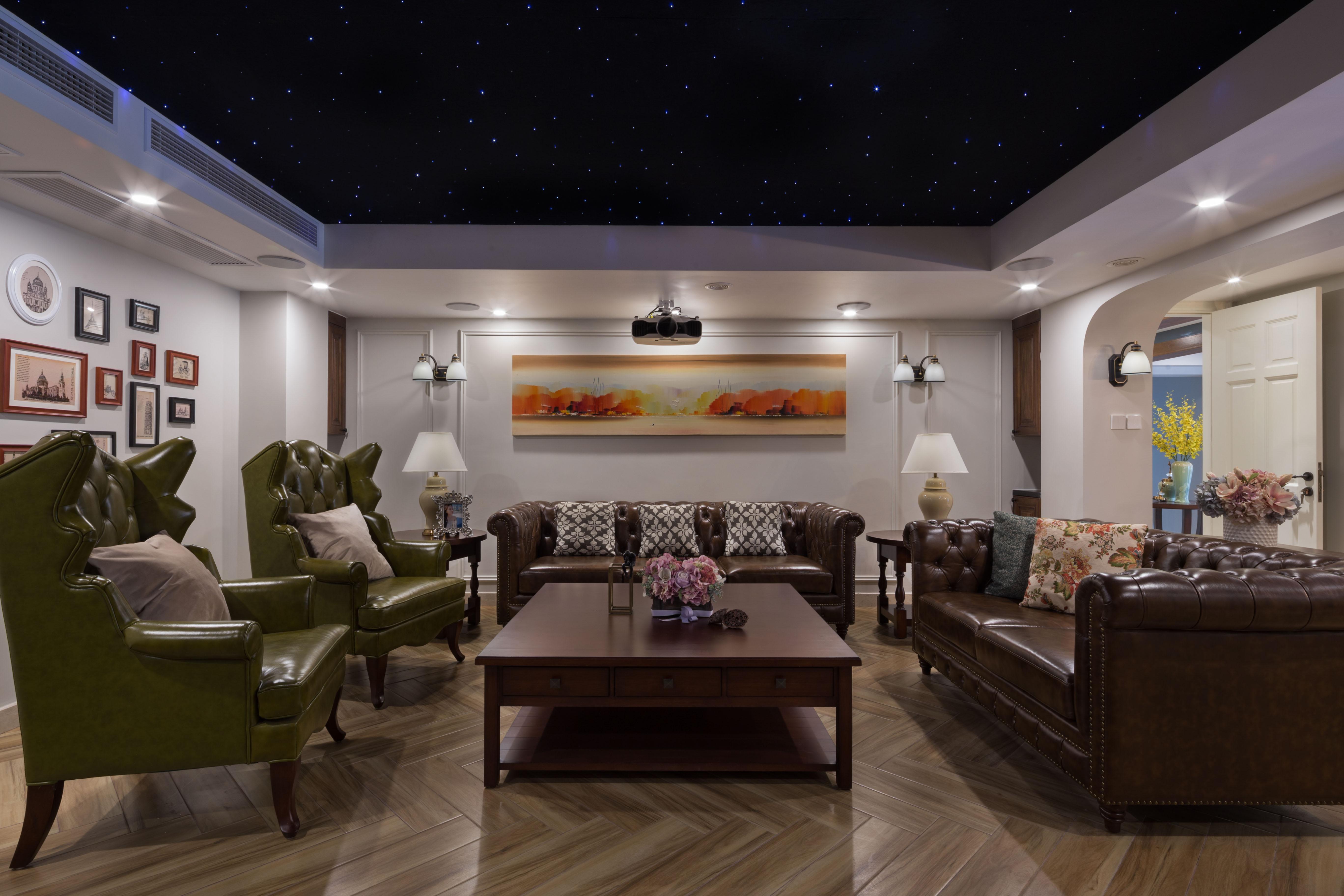 中金海棠湾 别墅装修 美式风格 别墅设计师 腾龙别墅设 客厅图片来自孔继民在中金海棠湾别墅美式风格设计方案的分享