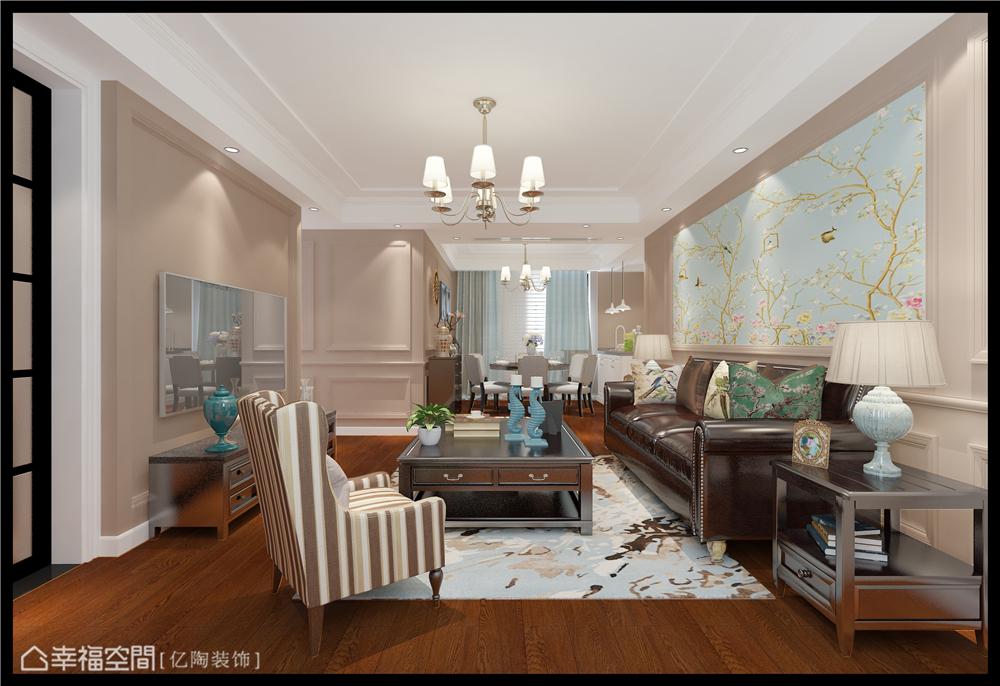 简美 亿陶装饰 幸福空间 美式 简约 旧房改造 80后 小资 收纳 客厅图片来自幸福空间在重拾美好生活 百平大宅变身记的分享