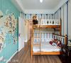 小孩房  小孩房以童趣的壁纸装饰,不仅满足孩子的喜好兴趣,也预留未来变动的弹性。